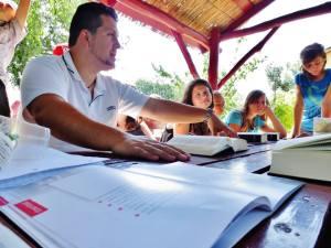 Tibor leading the Bible Study
